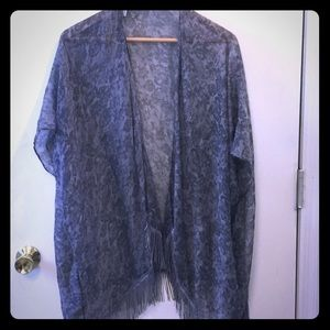 Other - Light floral shawl or beach cover up